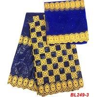 Royal blue Nigerian Bazin riche getzner guinea brocade fabric 2019 African Cotton high quality Basin fabrics for dress BL249