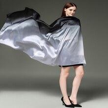Hijab scarf silk long 180 cm * 110 cm brand shawl wrap women scarves Gradient pashmina