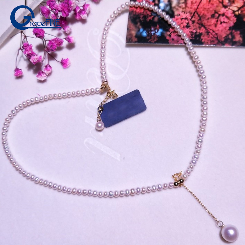 Tassel Pendants 100% Mini Pearl Necklace White Natural Freshwater Pearl Choker Necklace Simple Jewelry Nice Gift for Girl Women цена