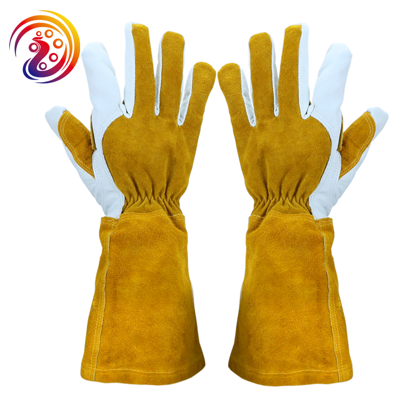 Image 5 - Summer Gardening Rose Pruning Gloves Cowhide Leather & Split Leather Safety Gloves Women and Men Welding Glove HY040safety gloves leatherindustrial safety glovessafety gloves -