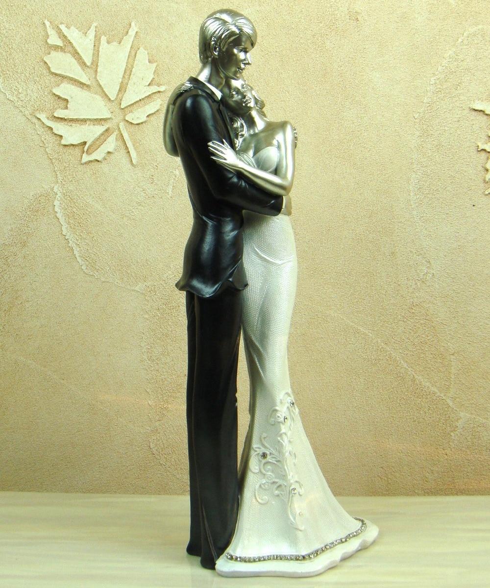 Romantic Wedding Ceremony Couple Figurine Handmade Marriage Figure