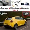 3in1 WiFi Cámara + Receptor Inalámbrico + Monitor Del Espejo Especial DIY FÁCIL Sistema de Aparcamiento Para Alfa Romeo MiTo AR Furiosa 2007 ~ Onwork