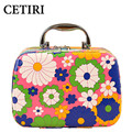 Women Cosmetic Cases Large Capacity Cosmetic Bags Brand Box Makeup Bag Professional Beauty Travel Jewelry Display Case Floral