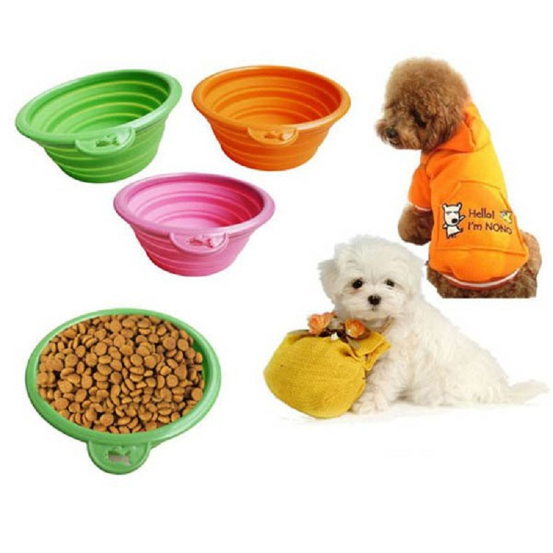 Portable Silicone Collapsible Feeding Bowl Dog Water Dish Cat Portable Feeder Puppy Pet Travel Bowls for Dog Cat