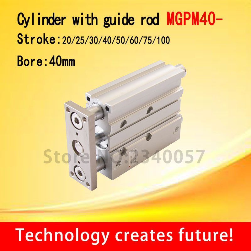 SMC Type MGPM40 Thin cylinder with rod MGPM40 25 30 40 50 75 100 Three axis