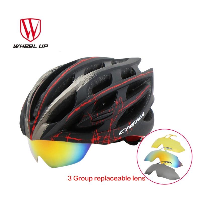 Lenses Cycling Helmet EPS PC Material Light Mountain Bike Helmet 32 Air Vents MTB Bicycle Equipment Casco Ciclismo outdoor eyewear glasses bicycle cycling sunglasses mtb mountain bike ciclismo oculos de sol for men women 5 lenses