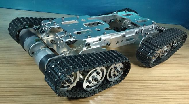 DIY Tracked Enhanced obstacle tank chassis Smart car robot chassis diy tracked robot