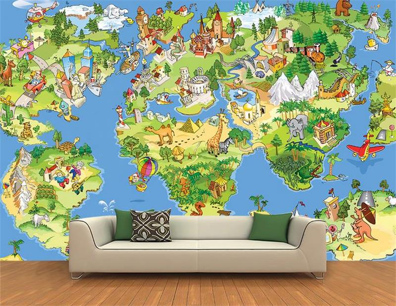 3d photo wallpaper custom living room kids mural cartoon world map 3d painting picture non-woven sticker wallpaper for walls 3d book knowledge power channel creative 3d large mural wallpaper 3d bedroom living room tv backdrop painting wallpaper