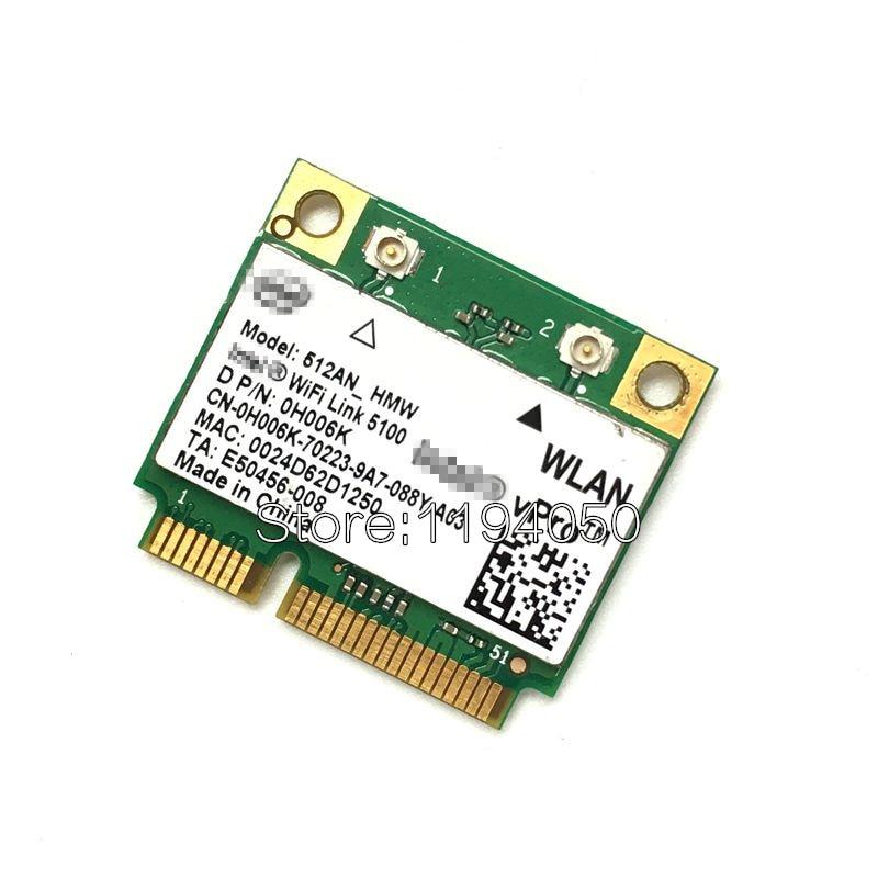 Dual-Band Intel Wifi 5100 512AN_HMW 300Mbps Wireless 802.11 Agn Half Size Mini PCI-e Wireless LAN Laptop Network Wireless Module