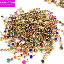 2017 new arrival SS10 strass Rhinestones,1440pcs Flat Back Hotfix Glitter Nail Stones,DIY 3d clothes Phones Decorations Supplies