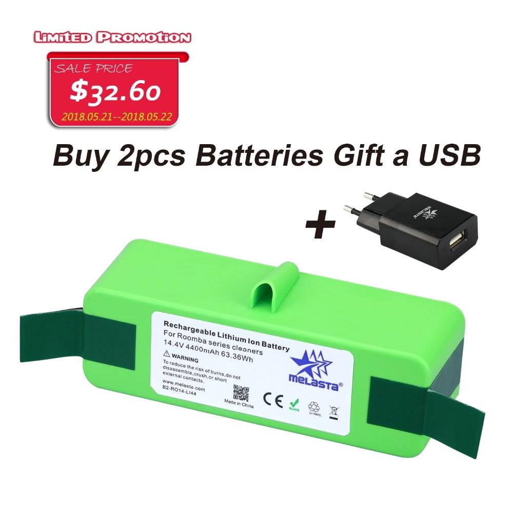 цена на 4.4Ah 14.4V Li-ion Battery with Brand Cells for iRobot Roomba 500 600 700 800 980Series 510 530 550 560 650 770 780 870 880 R3