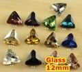 27 Colores 12mm 225 unids/lote Triángulo Glass Crystal Fancy Stone Bling Para La Joyería/de La Boda