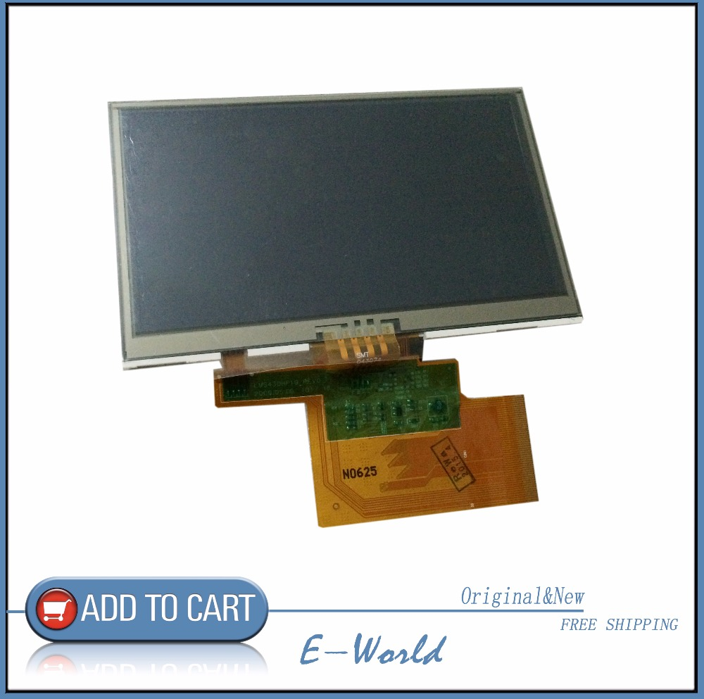 Original And New 4.3inch LCD Screen With Touch Screen LMS430HF19-003 LMS430HF19 For Tomtom XL N14644 GPS Free Shipping
