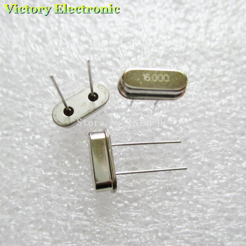 10PCS/Lot Crystal Oscillator Crystal Resonator 16MHz 16M 16.000MHz 16.000M 16.000 49S HC-49S DIP-2 Passive Crystal Quartz