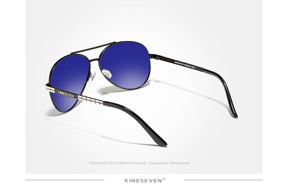 KINGSEVEN 2019 New Design Aviation Alloy Frame HD Polarized Sunglasses For Men UV400 Protection