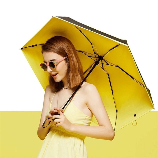 Quality Mini Pocket Umbrella Clear Women's Umbrella Windproof Folding Umbrellas for Men Compact Rain Female Umbrella Sunshade