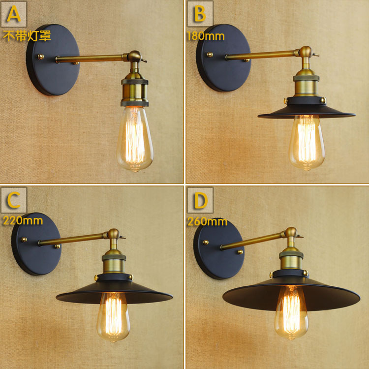 ツ)_/¯Industrial Iron Wall Lamp Simple & Retro Loft Light Balcony ...