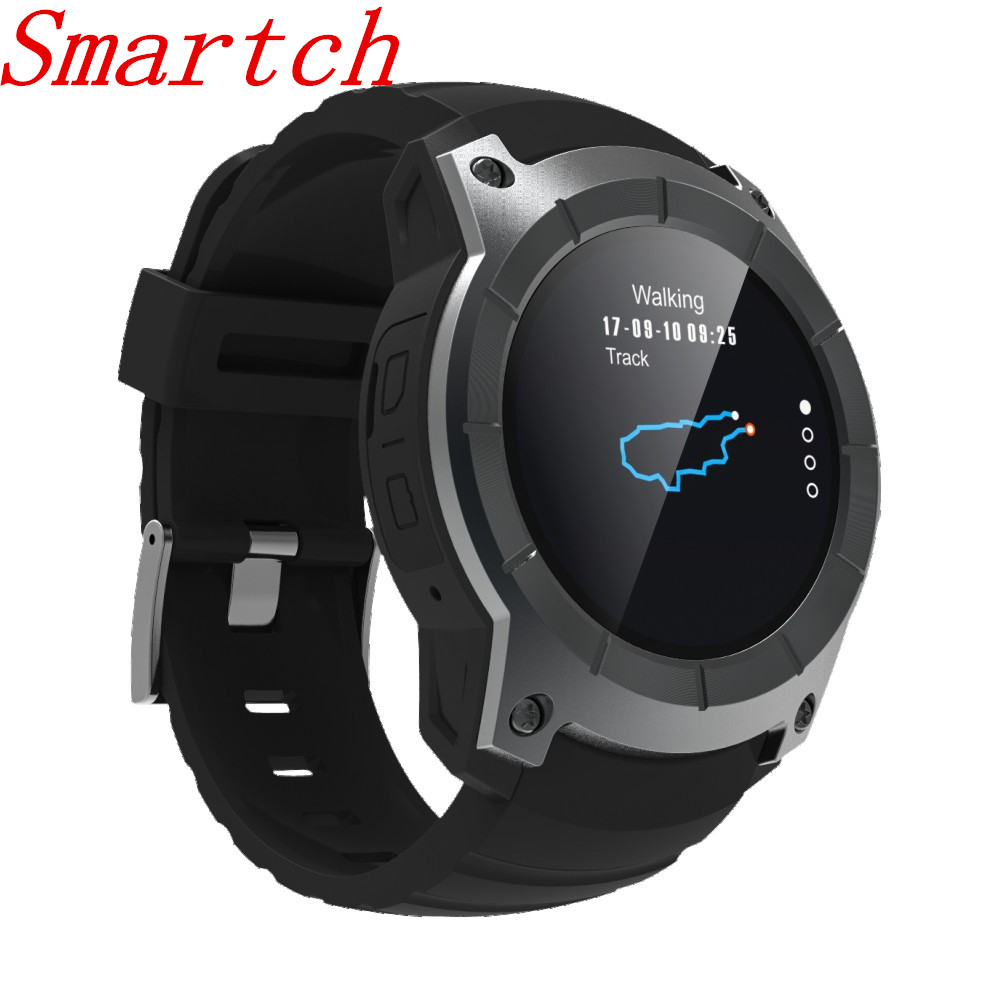 Smartch 2018 nouveau GPS montre intelligente montre de sport S958 MTK2503 moniteur de fréquence cardiaque Smartwatch modèle multi-sport pour Android IOS
