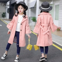 Weixu Children's Windbreaker Coat Spring Autumn Infant Kids Wide Sleeve Princess Trench Jacket Coats Clothes for Girls 8 10 Year