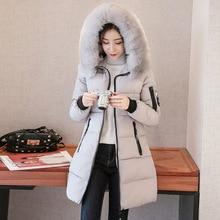15472a3f00b Abrigo de invierno 2018 chaqueta con capucha acolchada para mujer abrigo  largo para mujer abrigo para mujer Anorak tallas grande.