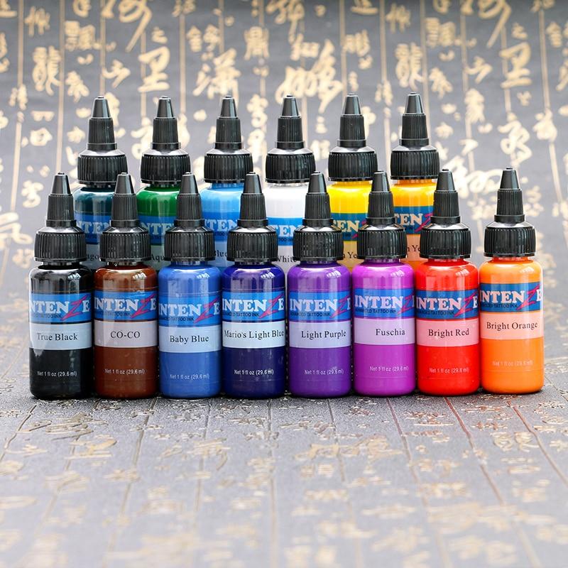 14 Pcs Professional Tattoo Ink Set 30ml/Bottle Tattoo Pigment Kit Permanent Makeup Pigment Tattoo & Body Painting Ink for Tattoo цена