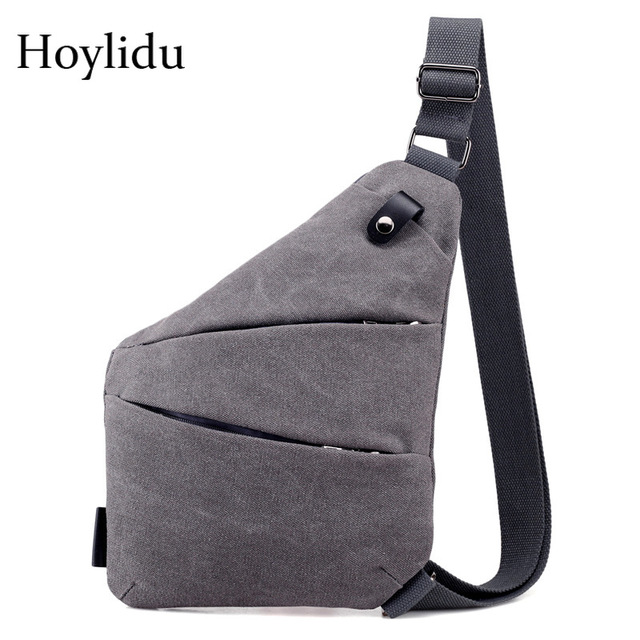 2b203549da144 الرجال تصميم الشعور حقيبة قماش حقيبة صدر للرجال عارضة متعددة الوظائف حمالة  المسدس حقيبة الذكور مكافحة