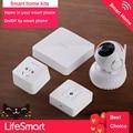 LifeSmart Smart Home Care kit, Wifi Wireless HD 720P IP Camera+Smart Center+Power Socket+Environmental Sensor Like Broadlink S1C