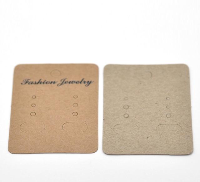Doreen Box Hot 100pcs Light Coffee Earrings Jewelery Display Cards 7x5cm 2 6