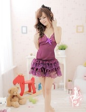 New Sexy Lingerie Lace Dress Underwear Babydoll Sleepwear+G-string Sex lingerie Cute Lace Dress