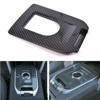 BBQ FUKA Carbon Fiber Style Car Gear Box Panel Cover Trim Sticker Fit For Land Rover