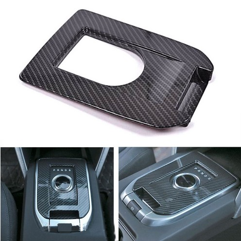 BBQ@FUKA Carbon Fiber Style Car Gear Box Panel Cover Trim Sticker Fit For Land Rover Discovery Sport 2015+