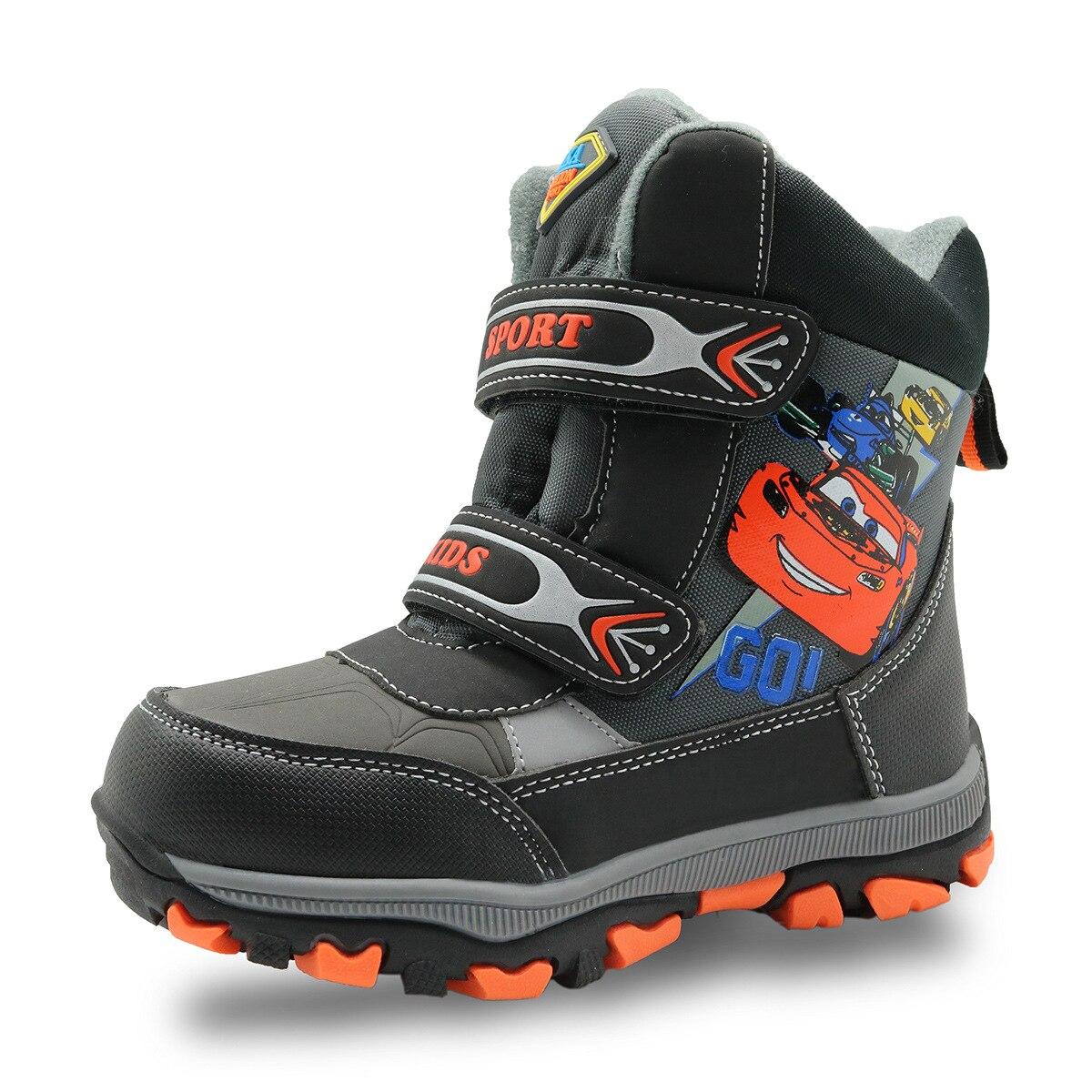 Winter Waterproof Boys font b Boots b font Mid Calf Rubber Children s Shoes Warm Plush