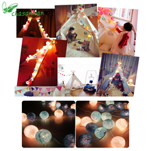 New Year Decor 3m 20-LED Colorful Cotton Ball LED String Lights Christmas Decoration for Home Xmas Ornaments Enfeites De Natal.L