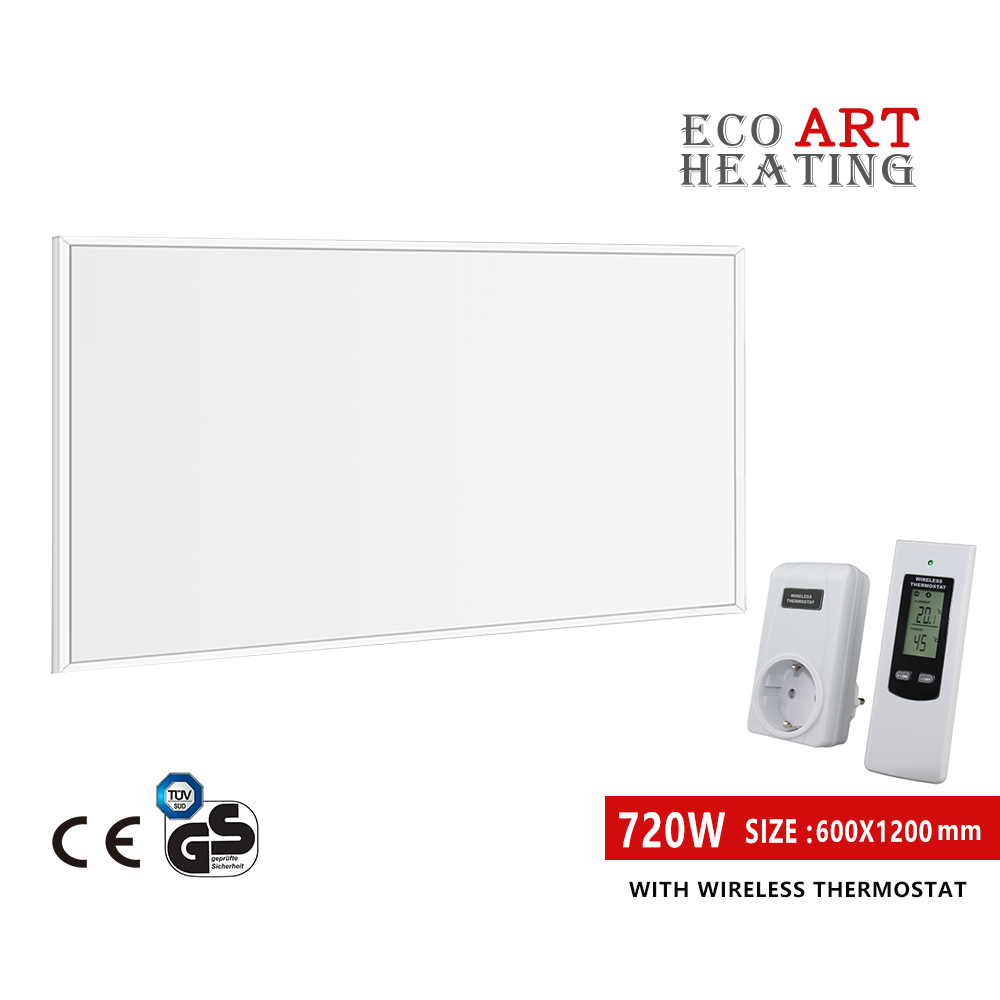 Far Infrared Heater Panel 720w Space Heating With Wireless Temperature Controller Indoor Room Heating Skilful Manufacture Household Appliances Electric Heaters