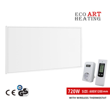 Far Infrared Heater Panel 720W Space Heating with Wireless Temperature Controller Indoor Room Heating eco art far infrared radiation heating panels 1200w three panels each with 600w home heating panels