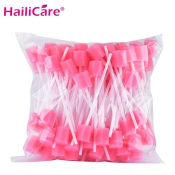 100 pcs Disposable Oral Swabsticks Unflavored Oral Care Sponge Swabs Foam Sputum Sponge Stick for Oral Medical Use