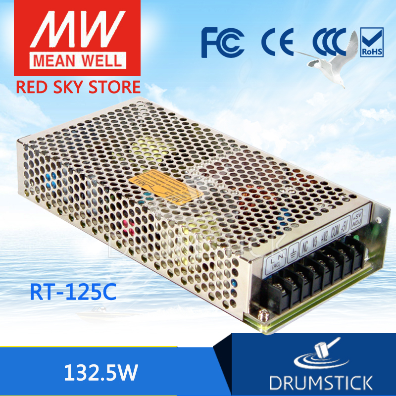 MEAN WELL RT-125C meanwell RT-125 132.5W Triple Output Switching Power Supply mean well original rt 50d meanwell rt 50 51w triple output switching power supply