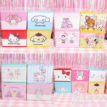 Cartoon Hello Kitty My Melody Cinnamoroll Pompompurin Little Twin Star Cosmetic Bags Folding accessories Storage makeup Box Bag