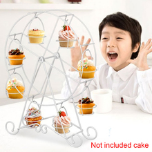 Party Rotatable Pastry Cupcake Holder 8 Cups Supplies Cake Stand Ferris Wheel Kitchen Home Use wedding Birthdays decoretion