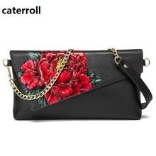 genuine leather women bag luxury handbags women bags designer shoulder bag floral female real leather handbag