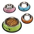 Nueva Llegada de La Manera de Acero Inoxidable antideslizante Tazón de Agua de Alimentación Para Mascotas Cat Dog Food Herramienta FULI
