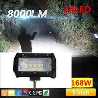 2 X 5 Inch 168W Flood LED Car Tractor Car Off Road Light Bar Work Light