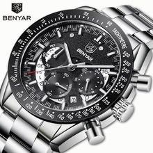 BENYAR Men's Watches Wristwatches Men Watch Quartz Chronograph Top Brand Luxury Watch Business Male watches Clock Reloj Hombre все цены