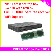 The latest set top box model dream tv box DM 520 dvb S2 Tuner Linux Satellite Receiver Full HD 1080p
