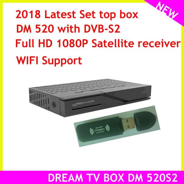 ล่าสุดชุดTop Boxรุ่นDream Tv Box DM 520 Dvb S2จูนเนอร์Linux Satellite Full HD 1080P
