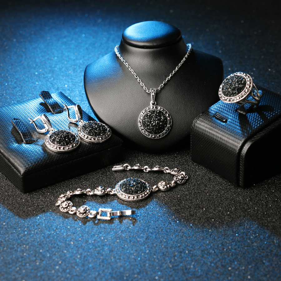 Luxury Vintage Silver Plated Women's Jewelry Set Jewelry Jewelry Sets Women Jewelry