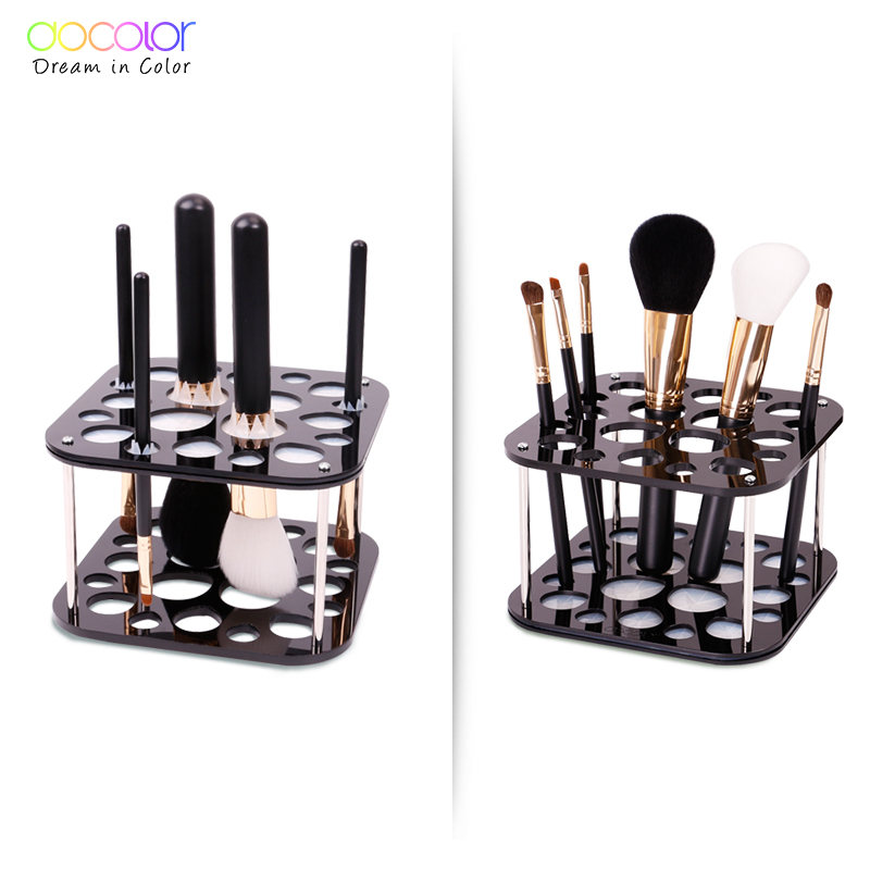 Docolor brush organizer Stand Tree Dry Brush holder Brushes Accessories Comestic Brushes Aside Hang Tools Free Shipping heart shape brush stand brush holder