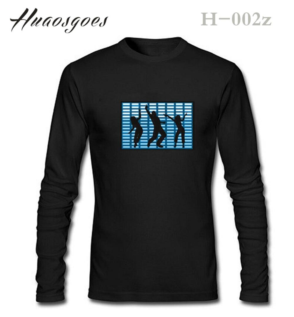 T shirt design hip hop - 2017 Hip Hop Party Bar Flash El T Shirt Wholesale Fashion Brand T Shirts Men Women Autumn Long Sleeve Oversize Design Led Tshirt