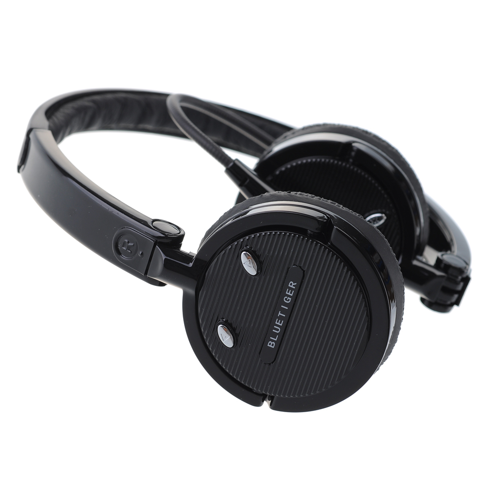 Foldable Bluetooth Headsets Noise Canceling Hands-free Stereo Wireless Headphones with Leatherette Ear Cushion for Phones