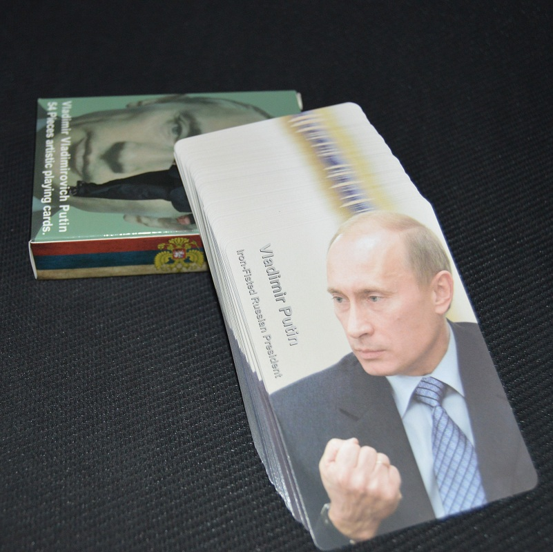 Collection poker President of the Russian Vladimir Putin poker set game celebrity playing cards deck novelty present pokers image